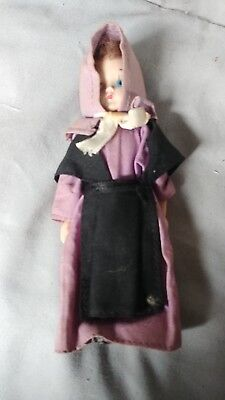 Early 1800s Looking Antique Girl Doll Very Ornate New England Barn Find