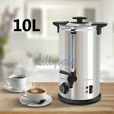 10 Litre Electric Stainless Steel Catering Water Boiler Tea Urn Commercial