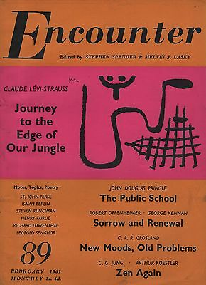 ENCOUNTER MAGAZINE(February 1961)JUNG-KOESTLER-ISAIAH BERLIN-CLAUDE LEVI-STRAUSS