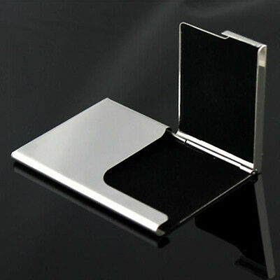 Business Name Credit ID Card Holder Box Stainless Steel Pocket Metal Box CaseNew