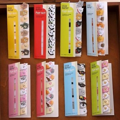 120pc/set Cute Animal Panda Cat Memo Pad Stickers Sticky Notes School Stationary