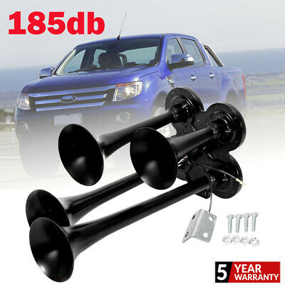 185db 4 Trumpet Train Air Horn Kit Loud Truck Pickup For Ford Chevy Ram Toyota
