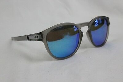 4c06ef6f8a Oakley Latch Matte Grey Ink Sapphire Iridium Polarized Sunglasses OO9265-08