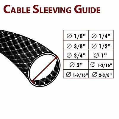 PET Expandable Braided Cable Sleeving Sleeve Wire Weave Protector Guard (Black)