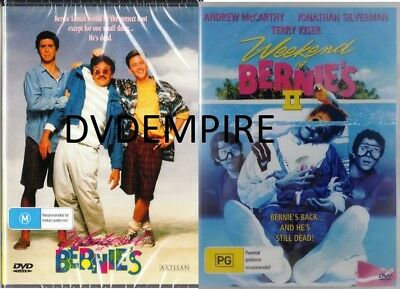 Weekend at Bernies Part 1 & II 2 DVD (2 disc) New & Sealed Australia All Regions