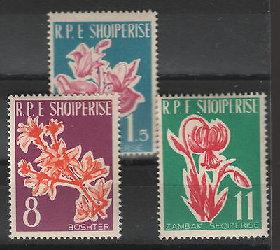 1961 Albania. Albanian Stamps. First Flowers in Albanian Stamps.  MNH