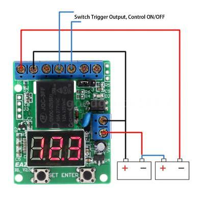 DC 12V Voltage Detection Charging Monitor Relay Switch Control Board Module N6B1