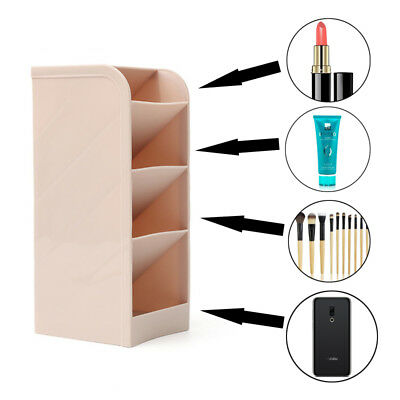 Home Dorm Plastic Desk Organizer Makeup Brushes Desktop Office Pen Pencil Holder