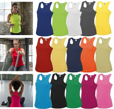 AWDis LADIES GIRLIE COOL VEST, BREATHABLE FOR SPORTS, WORKOUTS, RUNNING, XS-XL