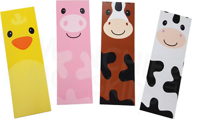Farm Animal Bookmarks - Book Reading School Party Bag Fillers Pack Sizes 6 - 48