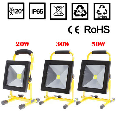 LED Rechargeable Cordless Thin Portable Work Site Flood Light Camping Fishing UK