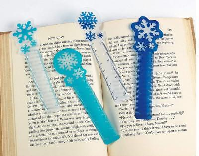 Snowflake Bookmarks - Book Reading School Party Bag Fillers Pack Sizes 6 - 48