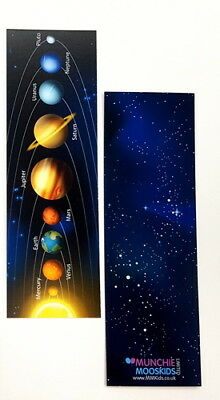 Solar System Bookmarks - Book Reading School Party Bag Fillers Pack Size 6 - 48