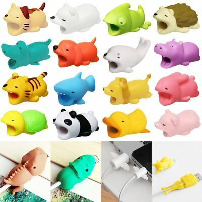 Cartoon Animal Bite USB Charger Cable Protector For IOS Android Samsung HUAWEI