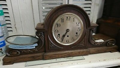 Vintage German Art Deco Westminster Chime Mantel Clock with Westminster Chime