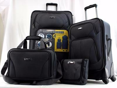 Travel Select Allentown 4 Piece Spinner Luggage Set Grey