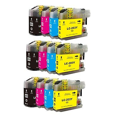 5 Set 20 NON-OEM INK LC203XL LC201XL LC201 LC203 LC-203 for BROTHER LC-203 XL