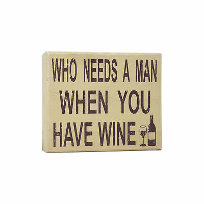 JennyGems Stand Up Sign - Who Needs A Man When You Have Wine - Divorce Party...