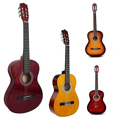 Acoustic Guitar Natural 39'' Full Size 4/4 Beginner Adult Acoustic Metal Strings