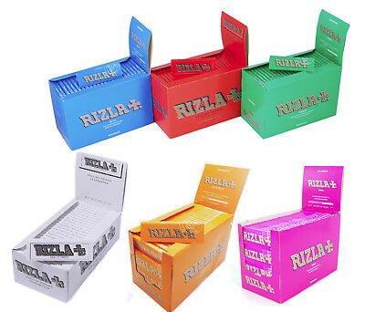 Rizla Regular Genuine White Pink Red Green Silver Blue Cigarette Rolling Papers