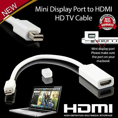 Mini Display Port To HDMI Cable Adapter Thunderbolt Converter Macbook. 034
