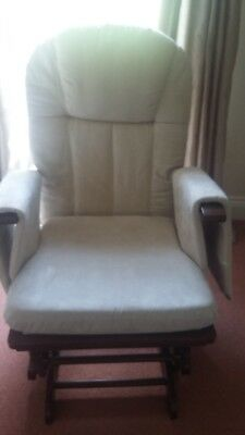 Tutti Bambini Deluxe Reclinable Glider Chair And Stool Mothercare RRP £170