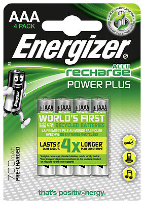 Energizer 700mAh AAA Rechargeable 4 Pack Extreme HR03 MN2400 NiMh Batteries