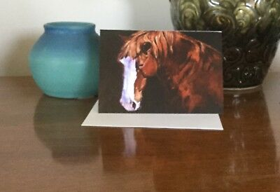 horse note cards classic black series art cards