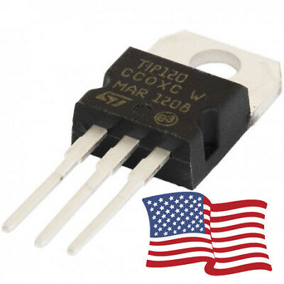 10pcs - TIP120 NPN Darlington Transistor TO-220 60V 5A  for Ardunio/Pi 3 PIN USA