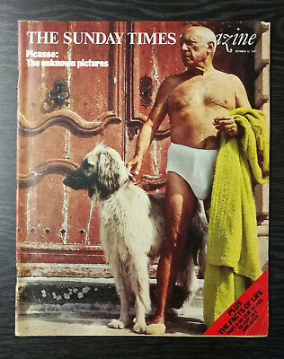 The Sunday Times Magazine: Picasso, Charles de Gaulle, Chaplin, 13 October 1974