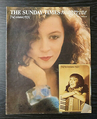 The Sunday Times Magazine: Edith Piaf portrayed by Brigitte Ariel, 24 March 1974
