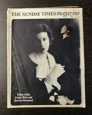The Sunday Times Magazine: Barbra Streisand as Fanny Brice, 12th January 1974