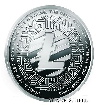"2018 1Oz Lite Coin Proof Crypto-Series - Silver Shield ""pre-Sale"" Mini-Mintage"
