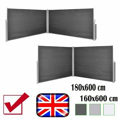 Garden Sunshade Blind Retractable Side Awning Outdoor Double-Sided Screen Patio