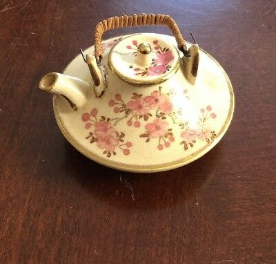 Antique Japanese Satsuma Mini Teapot Marked RPC, Kyoto