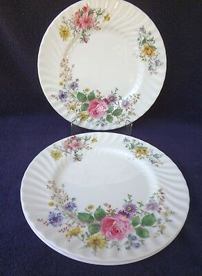 "3x ROYAL DOULTON ARCADIA  3 10 1/2"" Dinner Plates Excellent Condition"