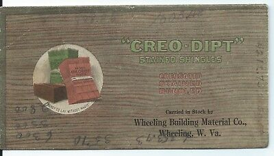 Adv. Blotter-Greo-Dipt Stained Shingles-Wheeling Bldg. Material Co.-Wheeling, WV