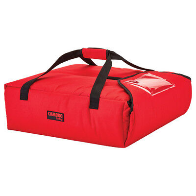 "Cambro GBP220521 Red Pizza Delivery Bag - (2) 20"" Pizza Capacity - Case of 4"