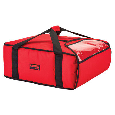 "Cambro GBP318521 Red Pizza Delivery Bag - (3) 18"" Pizza Capacity - Case of 4"