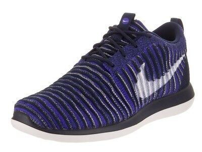 2a95b40c2aa1a NEW BOYS NIKE Roshe Two Flyknit Sneakers Big Kid 844619 401 Blue Shoes -   49.99