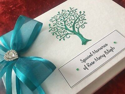 Condolence Funeral In Loving Memory Book Personalised Boxed sent within 24hours