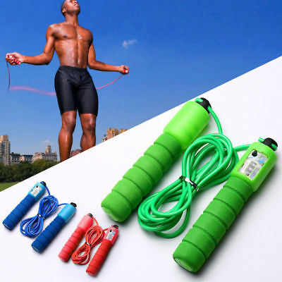 Skipping Rope With Counter Jump Exercise Boxing Gym Fitness Workout Adult Kid UK