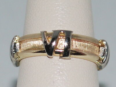 14k Gold ring with Roman Numerals in the design