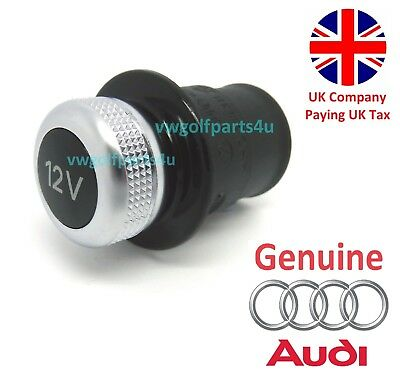 Genuine Audi 12v Cigarette Lighter Outlet Socket Cap Plug Cover Dummy Volkswagen