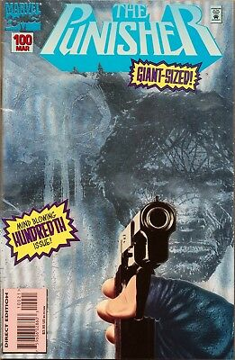Punisher #100 Silver Foil Cover Rare Later Issue 9.0 VF/NM