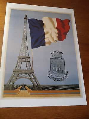 POSTER AFFICHE 50 X 70 cm PARIS FRANCE TOUR EFFEIL