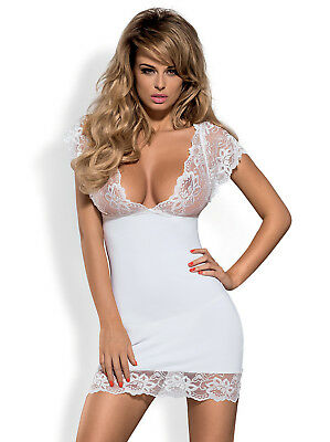 Night Dress Imperia, White, Sexy Nightwear from Obsessive Lingerie