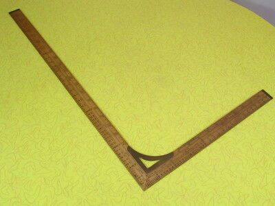 Vintage Antique Lufkin No. 8132 Tailors Dressmakers Wooden Square Ruler, Nice!