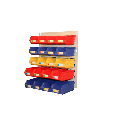 20 Storage Bin Wall-Mounted Rack Tools Parts Garage Shelving Organiser PS045