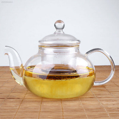 Heat Resistant Clear Glass Teapot With Infuser Coffee Herbal Pot Bottle 100